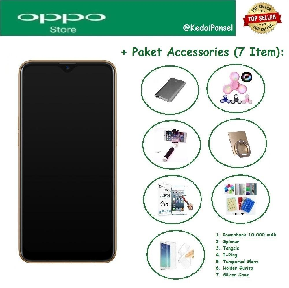 OPPO A7 [4/64GB] + Paket Accessories (7 Item)