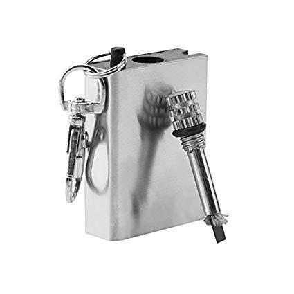 gantungan kunci korek permanen survival matches minyak mancis kecil lighter matches mini