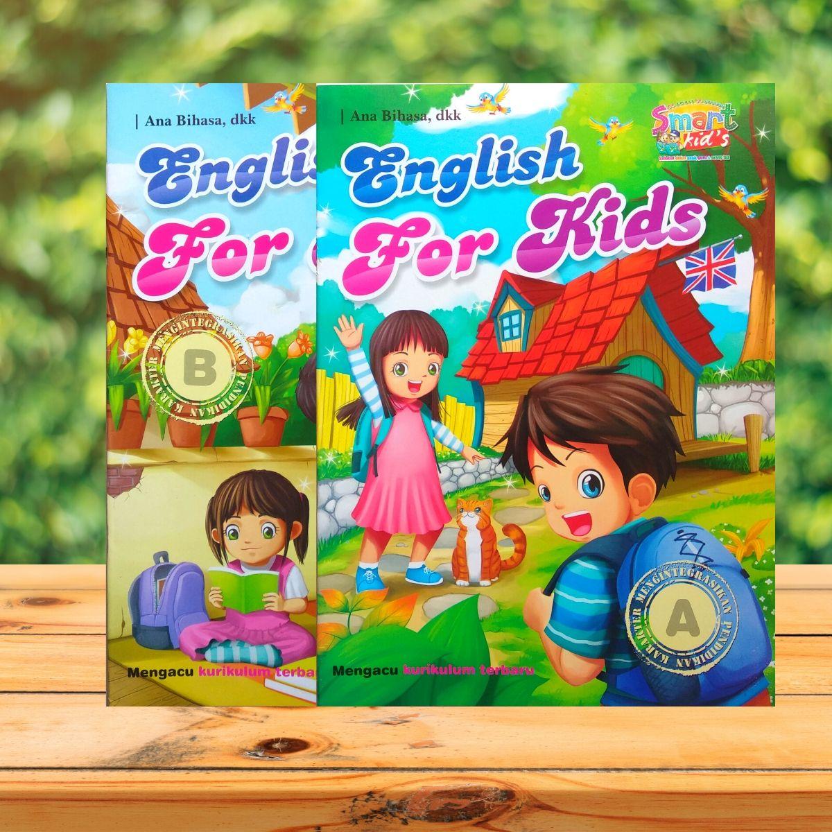 buku anak belajar bahasa inggris / buku english for kids jilid a b
