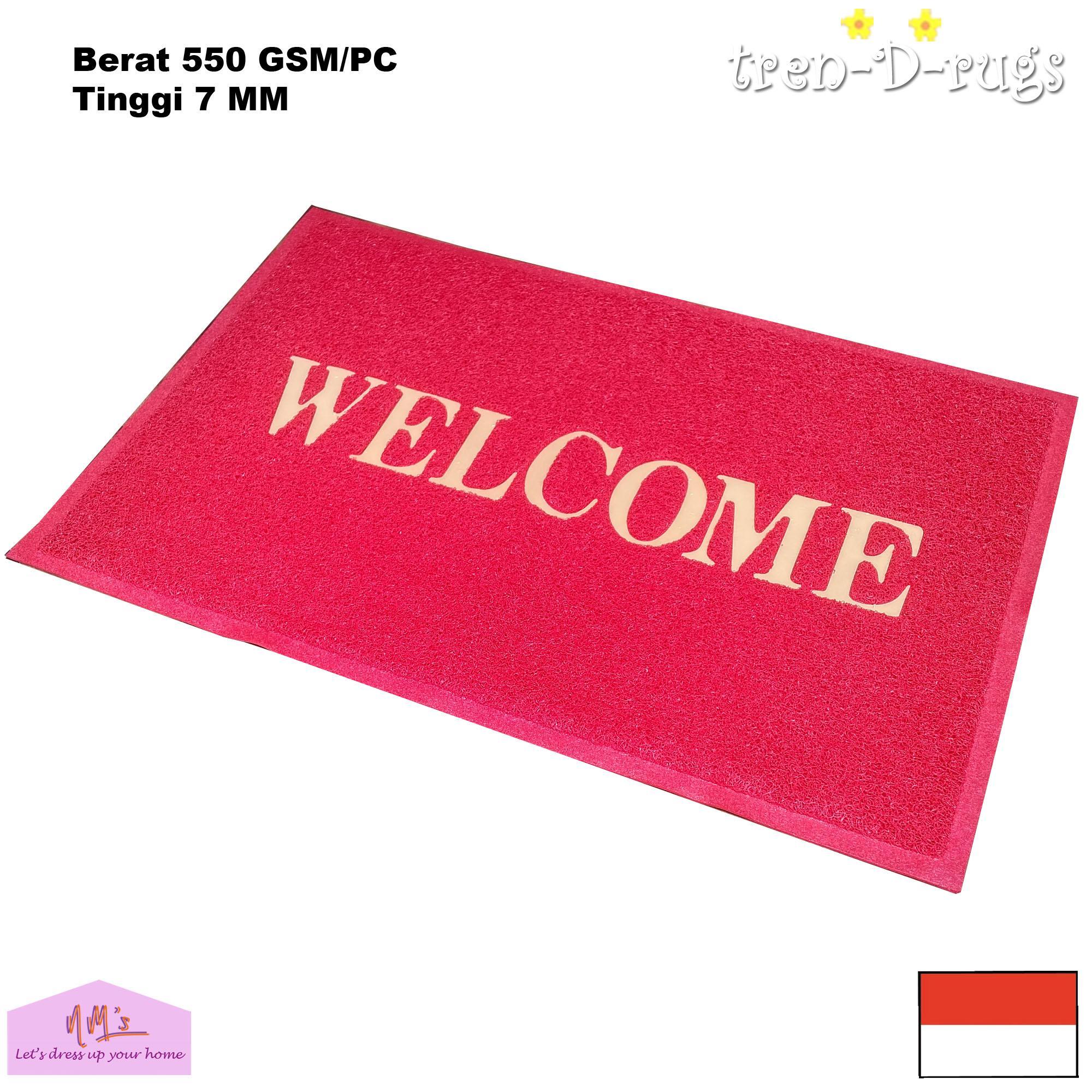 Tren-D-rugs - Keset Kaki Mie Bihun PVC Motif Welcome 40 cm x