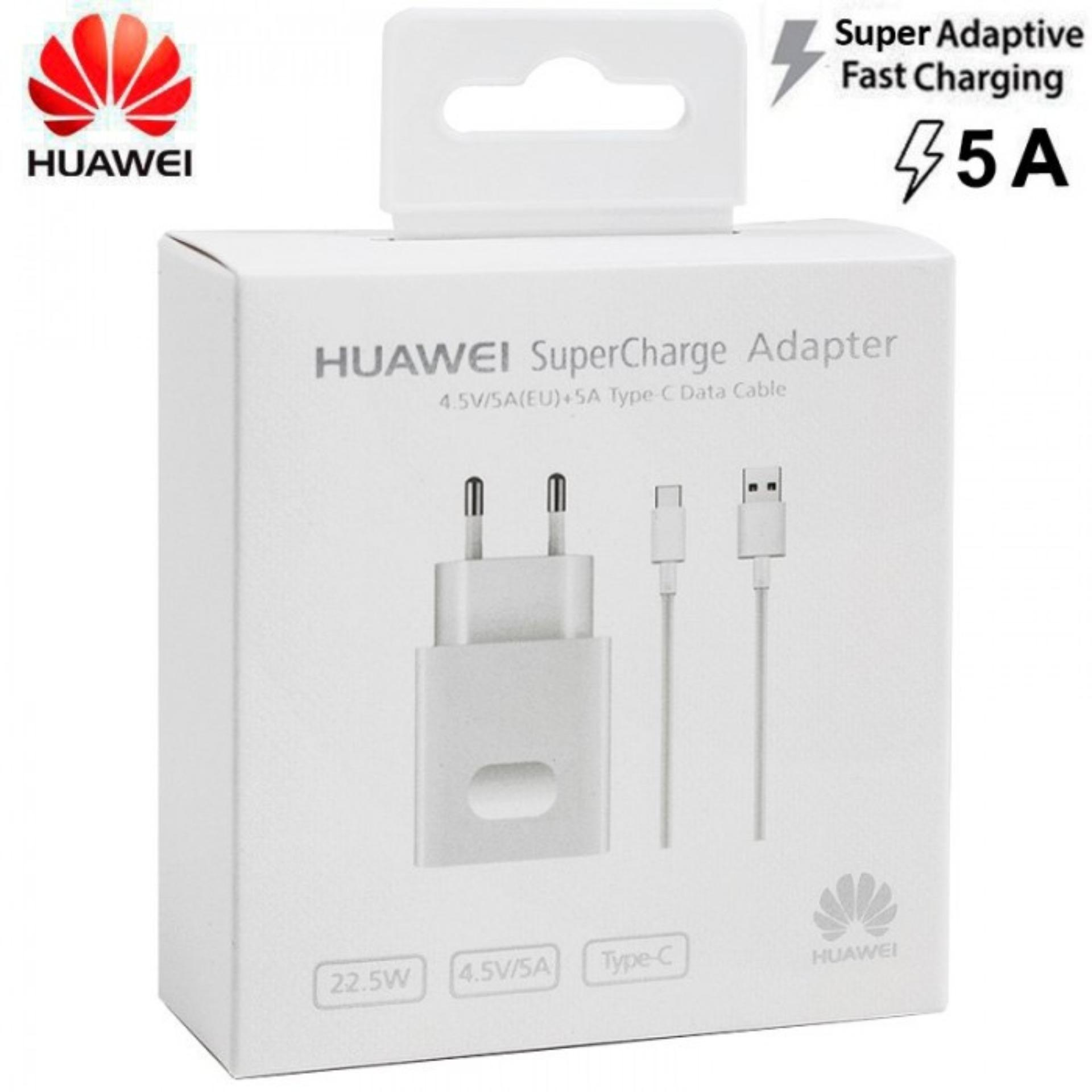 [gratis ongkir] huawei super charge / super fast charger 22.5w / 5a usb type c cable for huawei mate 20 / mate 30 pro 100% original