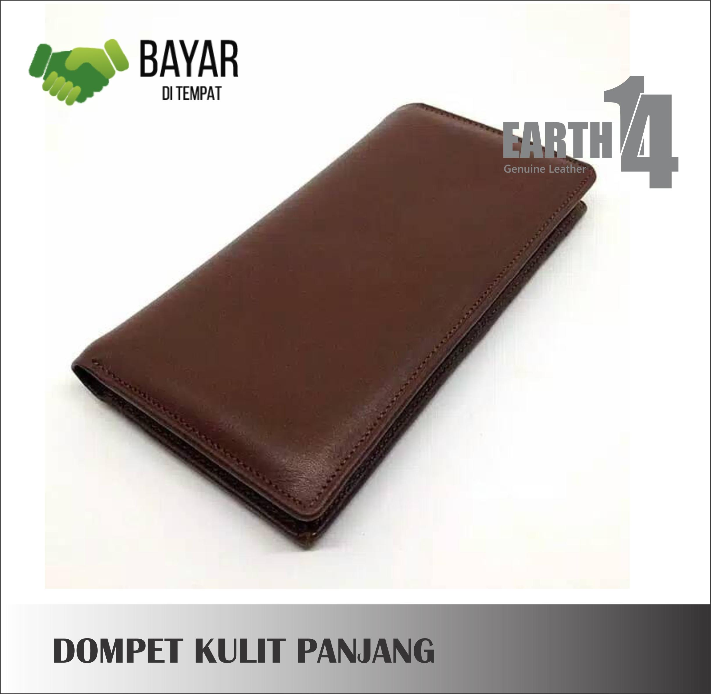 dompet pria kulit asli garut model panjang coklat