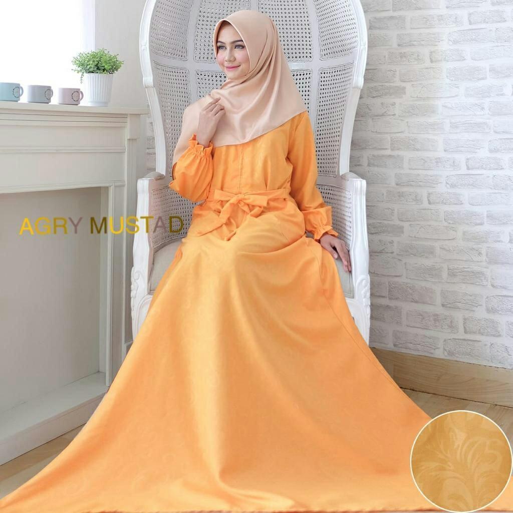 kbs-Gamis Syari Muslim Dress Hijab Muslimah Atasan Wanita Longdress Busui Terbaru - 5