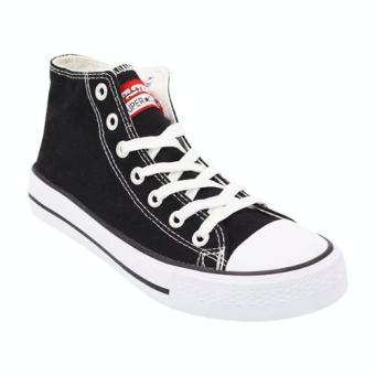 Faster Sepatu Sneakers Kanvas Wanita 1603-04 - Hitam/Putih ...