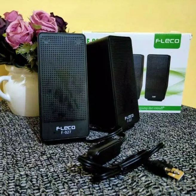 bisa cod!!! speaker gaming fleco f-027 speaker digital for handphone laptop komputer