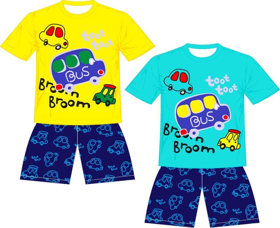 Baju Anak Laki- Laki Lucu - Baju Anak Bus Broom Broom - Babamu
