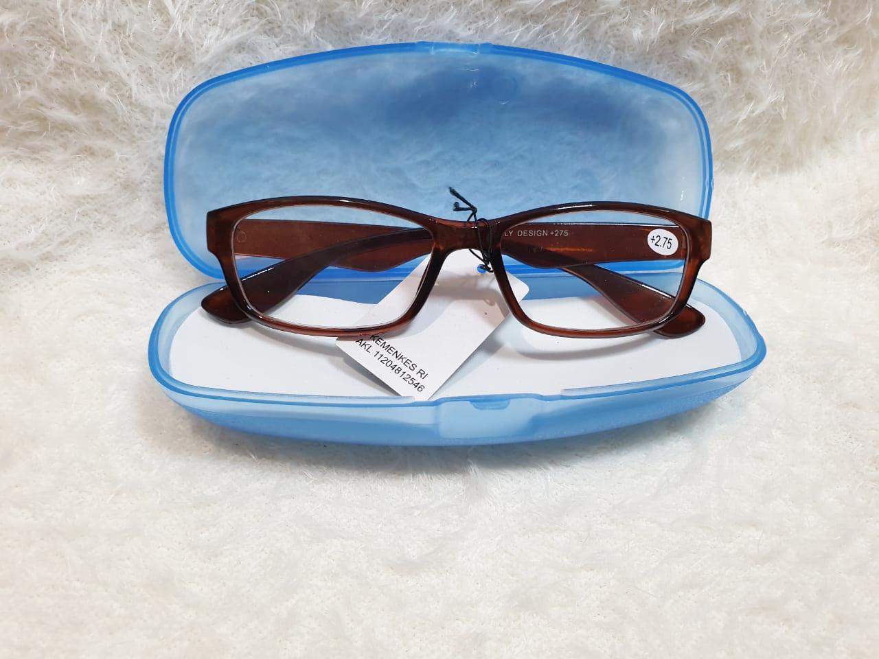 bayar tempat / kaca mata wanita coklat impor/ kaca mata pria gaya model trendy / kacamata baca plus / kacamata plus pria / free case / best er / jkt hijab grosir