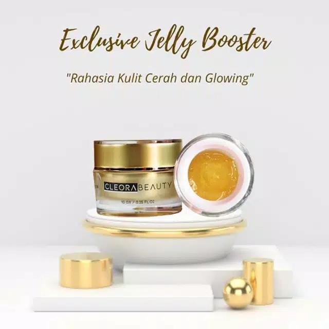 《bisa cod 》cleora beauty exclusive jelly booster | wajah glowing mulus bersinar bonus gift menarik