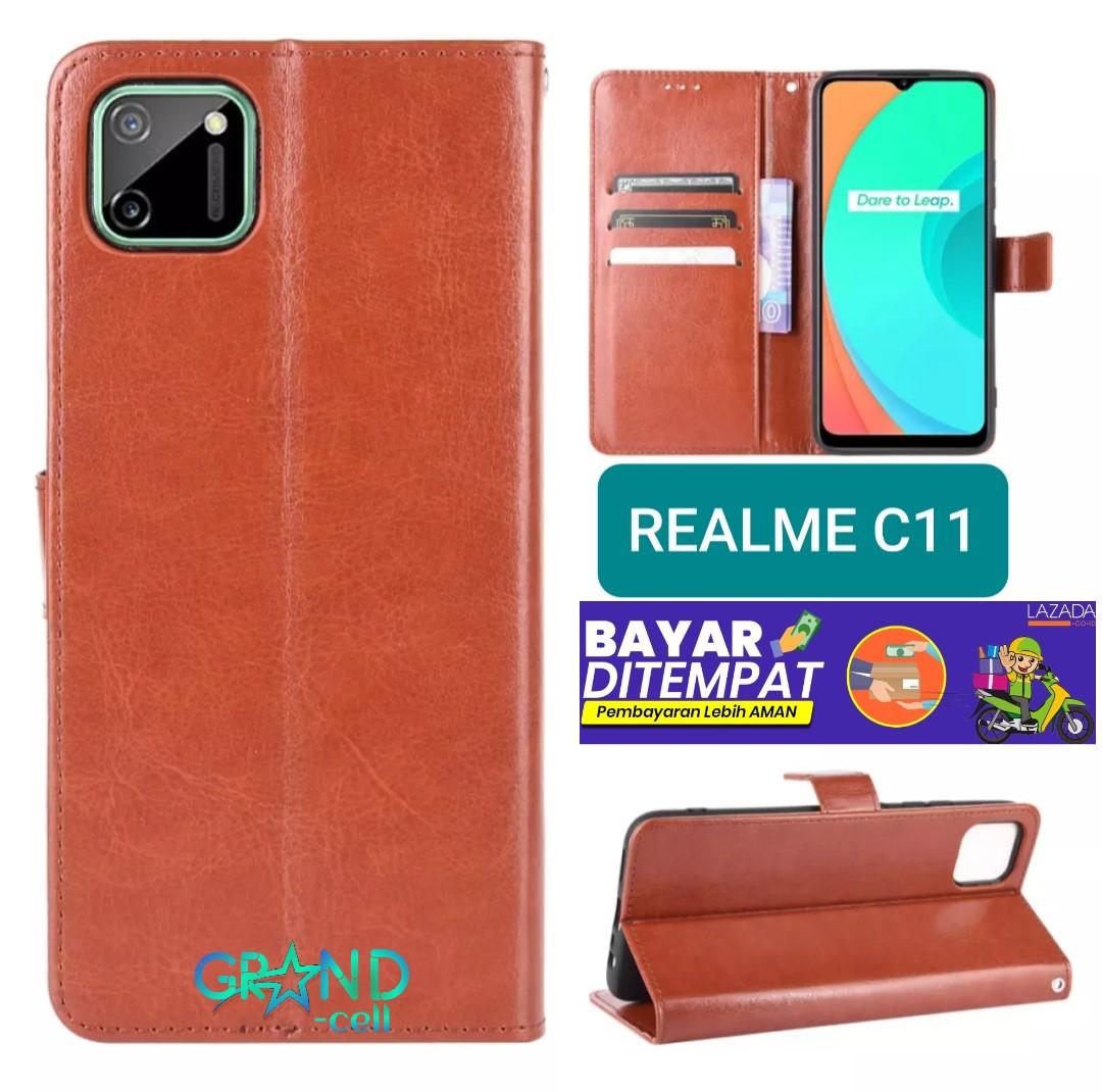 case wallet leather realme c11 2020 casing hp flip case leather dompet kulit flip cover wallet realme c11 2020 flip case hp realme c11 2020