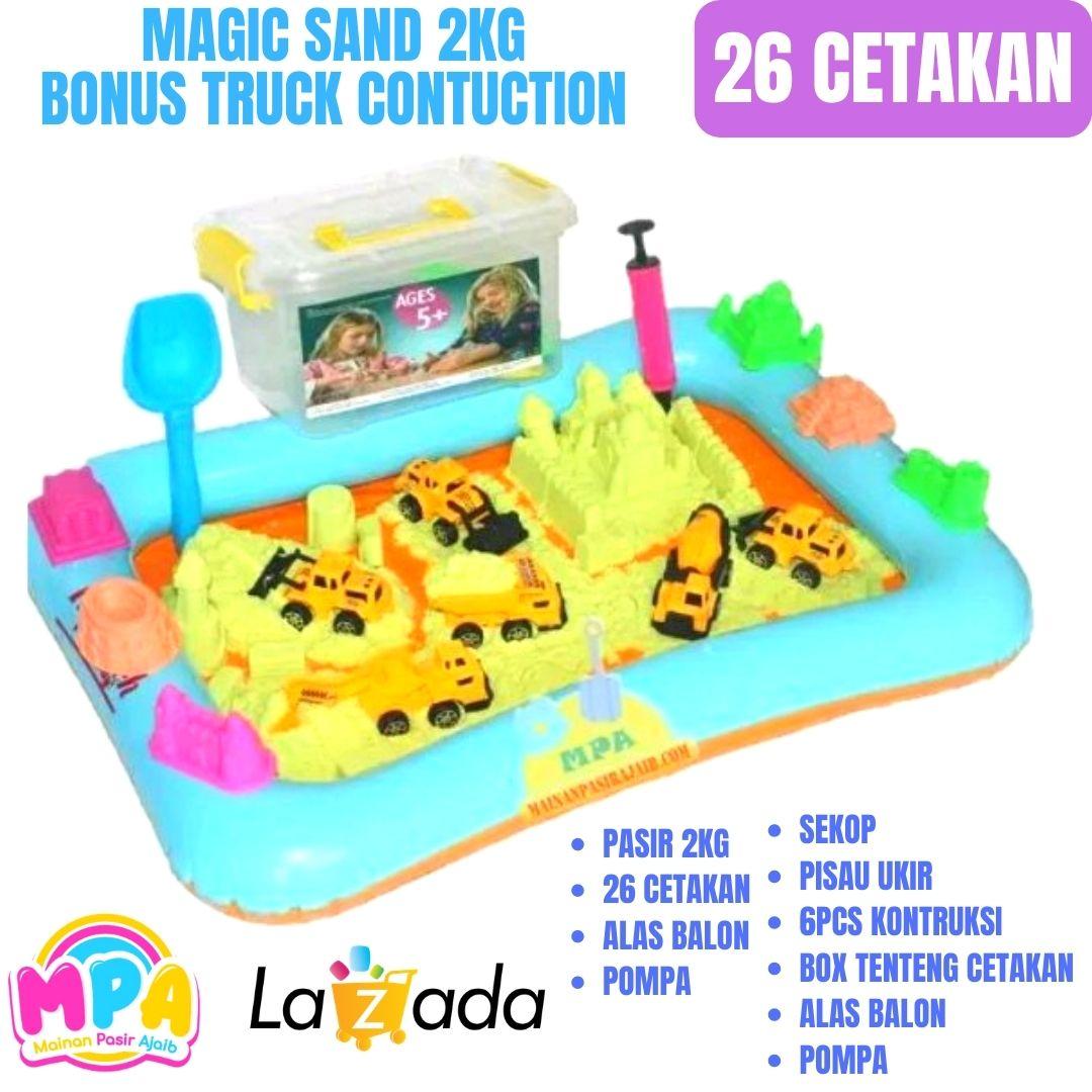 paket hemat ! mainan edukatif pasir ajaib model splay s2 kg dengan engineering construction