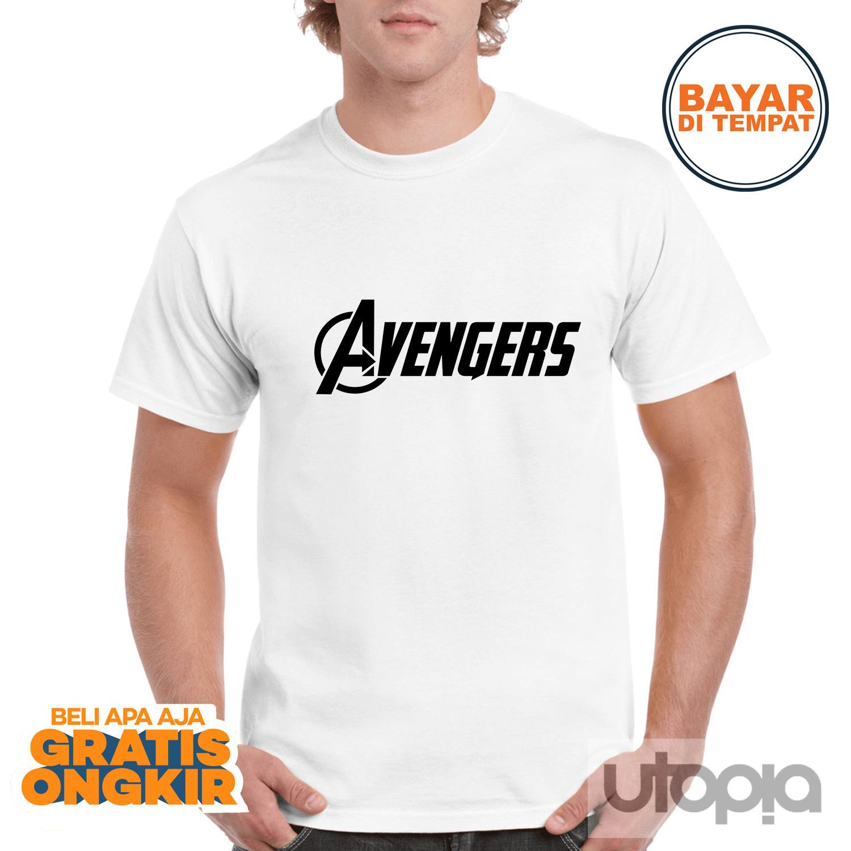 Kaos Pria Distro Marvel Avenger Endgame | Captain America | Spiderman Batman- Kaos Distro Pria