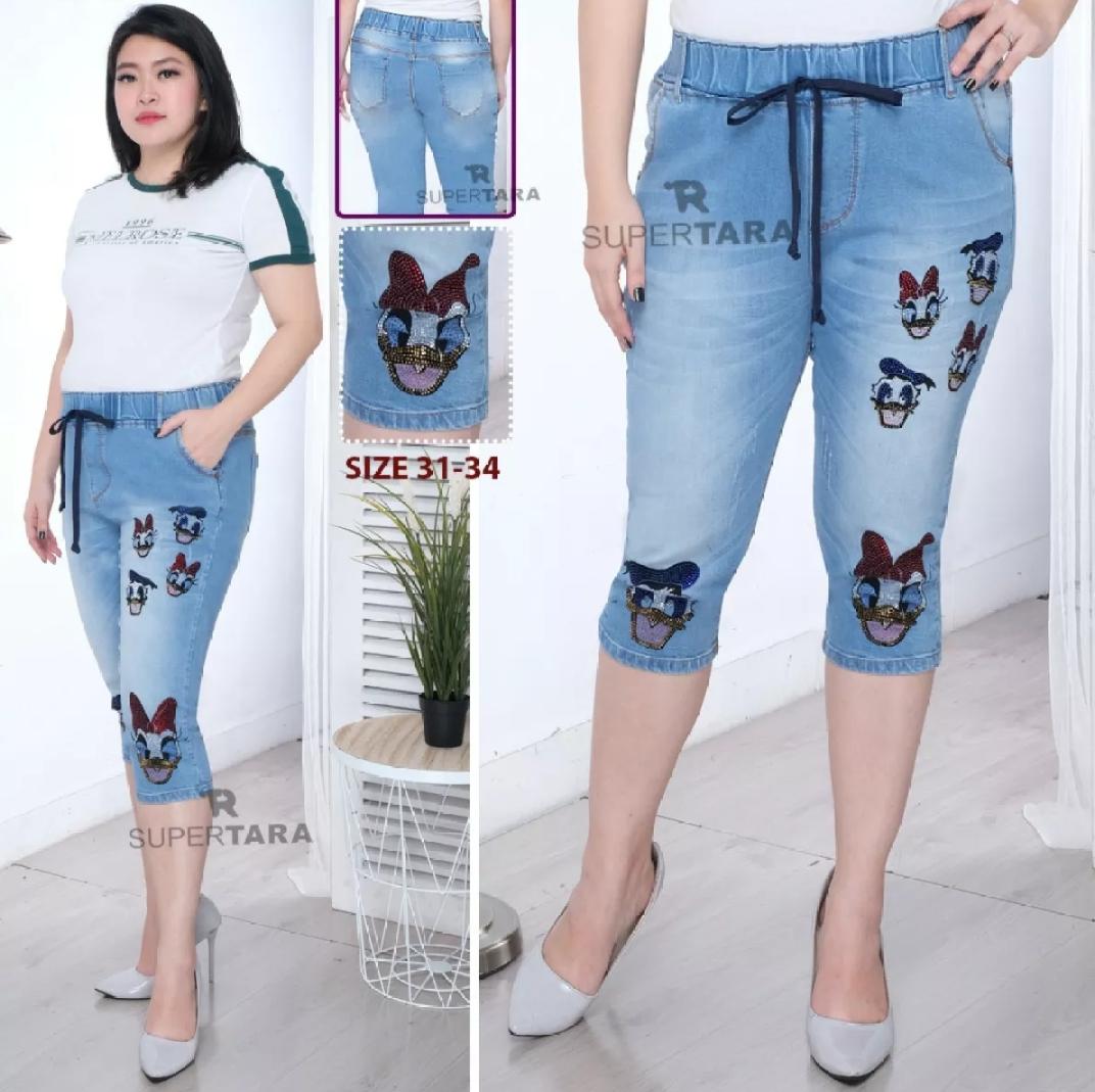 jeans wanita 7/8 (bisa cod)