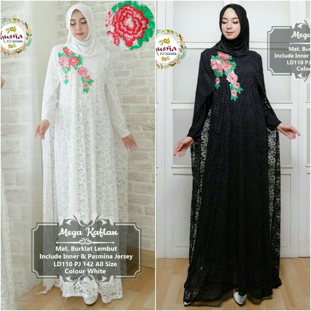Review Dress Muslimah Gaul Mega Kaftan Model Baju Pesta Batik