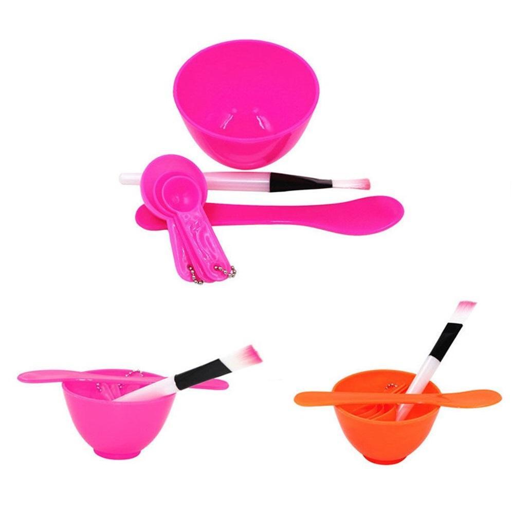 ... Masker Bowl 4 in 1 DIY - Set Perlengkapan Mangkok Masker Lengkap dengan Kuas Sendok Takar