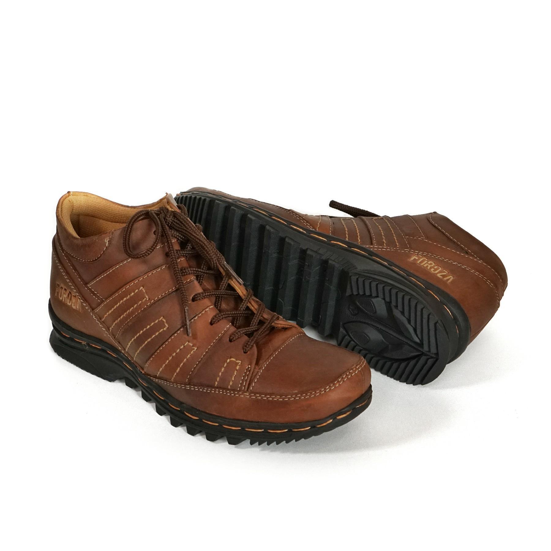 sepatu boots pria casual kulit asli handmade sol karet model fordza boots 901dr