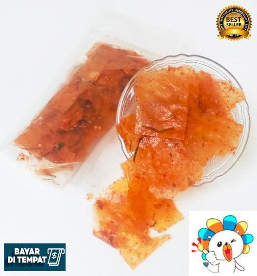 jajanan pedas keripik kaca ng paket 3 pcs / snack lada keripik enak kekinian / makanan sehah keripik elod extra daun jeruk / keripik extra pedas / keripik khas kota bogor