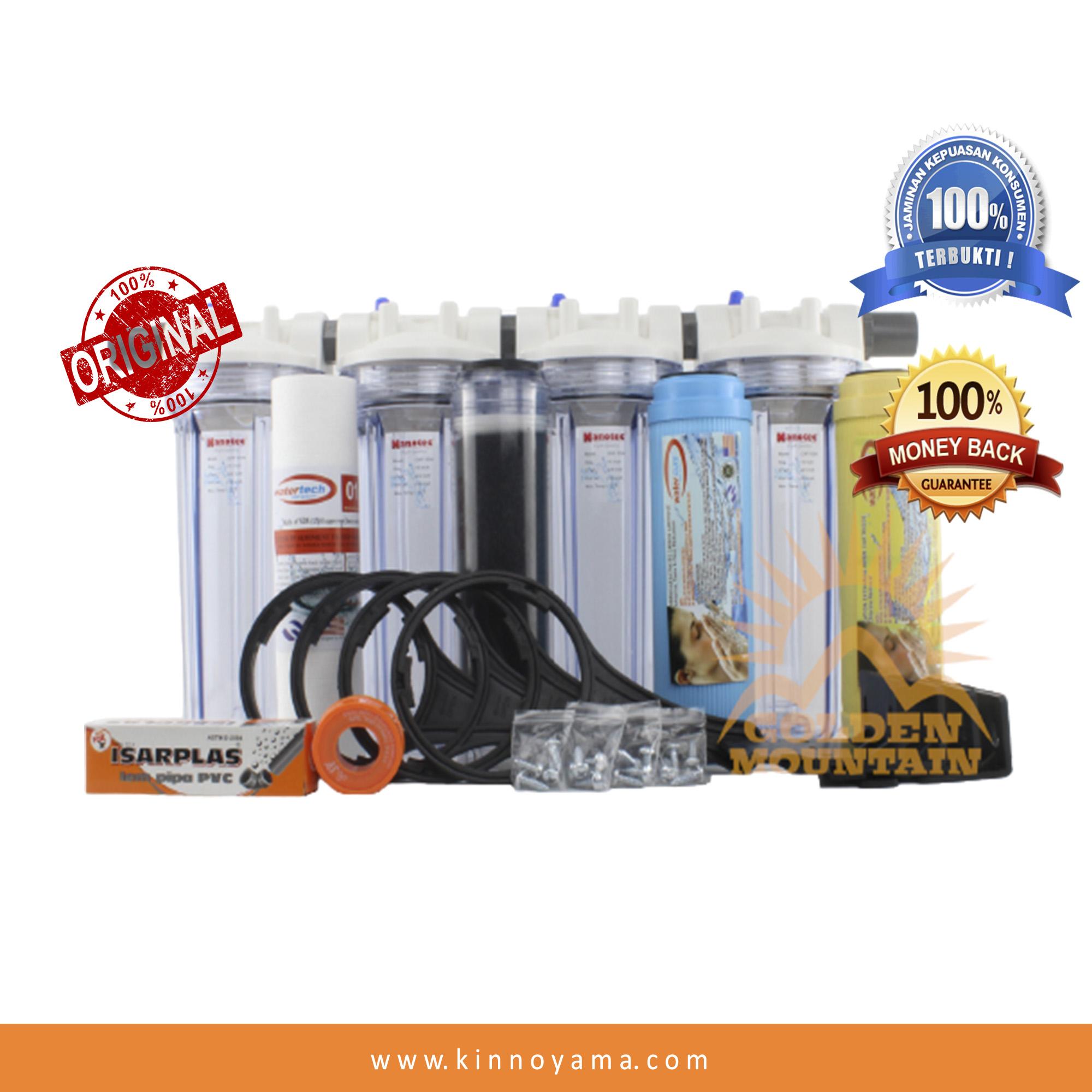 paket filter air berbesi + resin 4 tahap – nanotec clr 10  1/2  – lkp