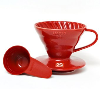 Hario V60 Plastik Coffee Dripper 01 - Merah