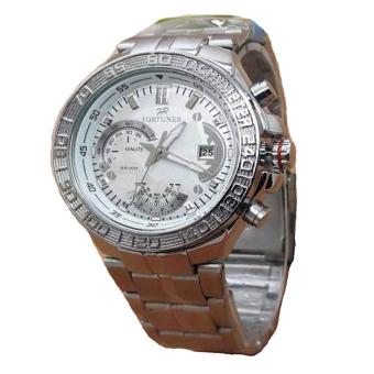 Fortuner Jam Tangan Wanita - Silver - Strap Stainless Steel - FR\nK8108 S