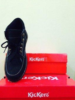 Kickers Sepatu Boots Pria Kulit Asli Model KR 077 Hitam