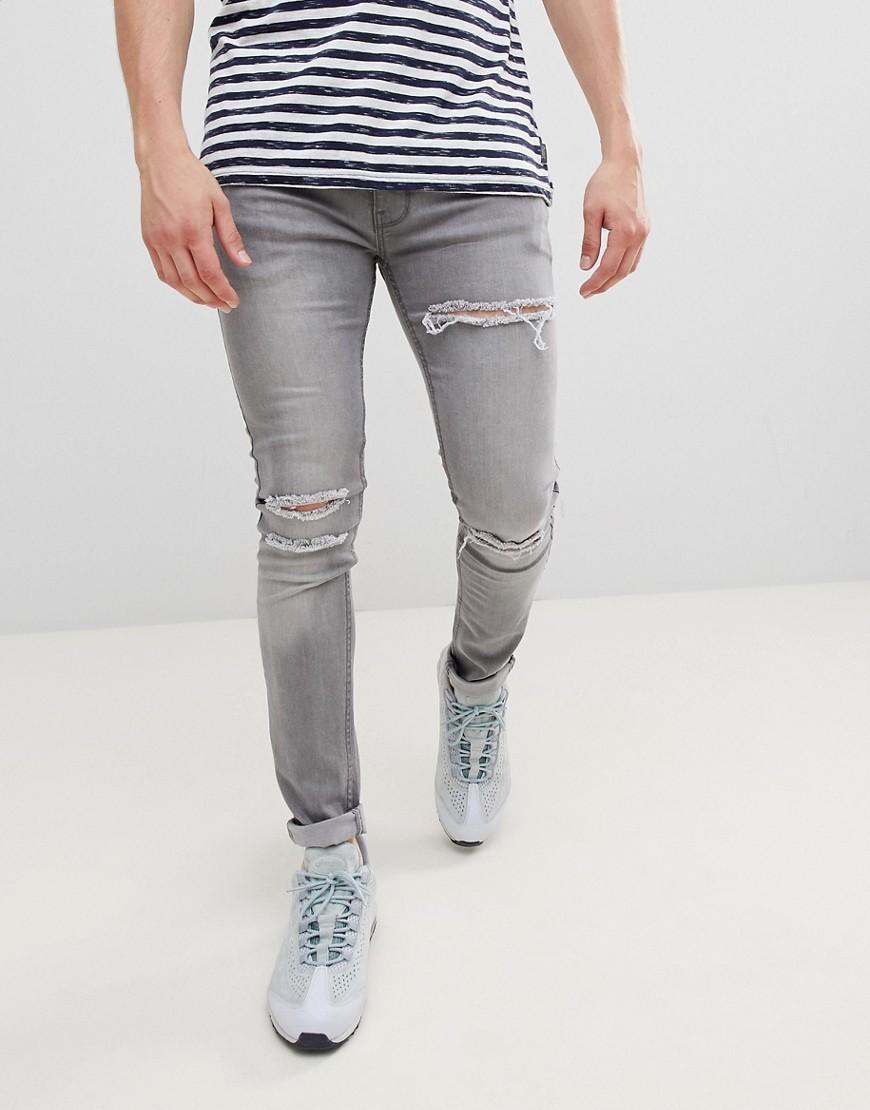 Celana Jeans Pria Sobek Lutut Hitam / Jeans Pria Robek / Jeans Pria Ripped / Jeans