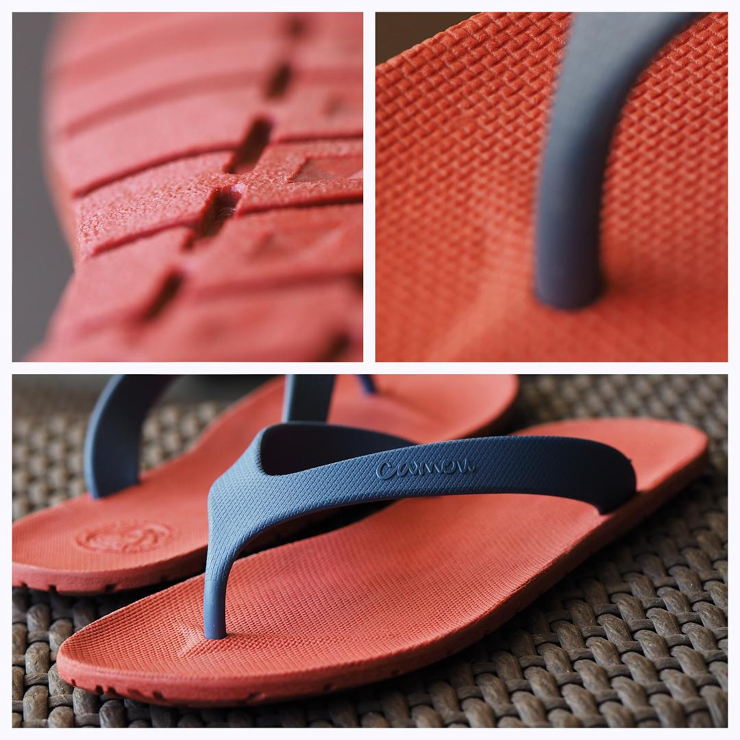 Sandal Camou Original series flipflops Red - Blue Terbaru Thermo Rubber