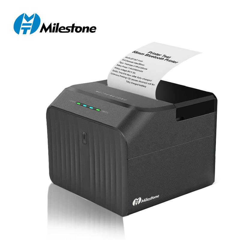 milestone mht p58d printer bluetooth mini thermal receipt 58mm kasir ppob