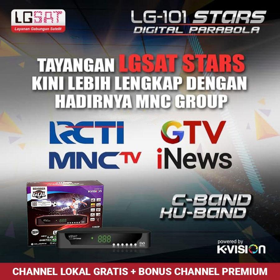 receiver parabola lgsat stars dekoder gol free mnc group & channel premium selamanya bonus voucher inject 50rb