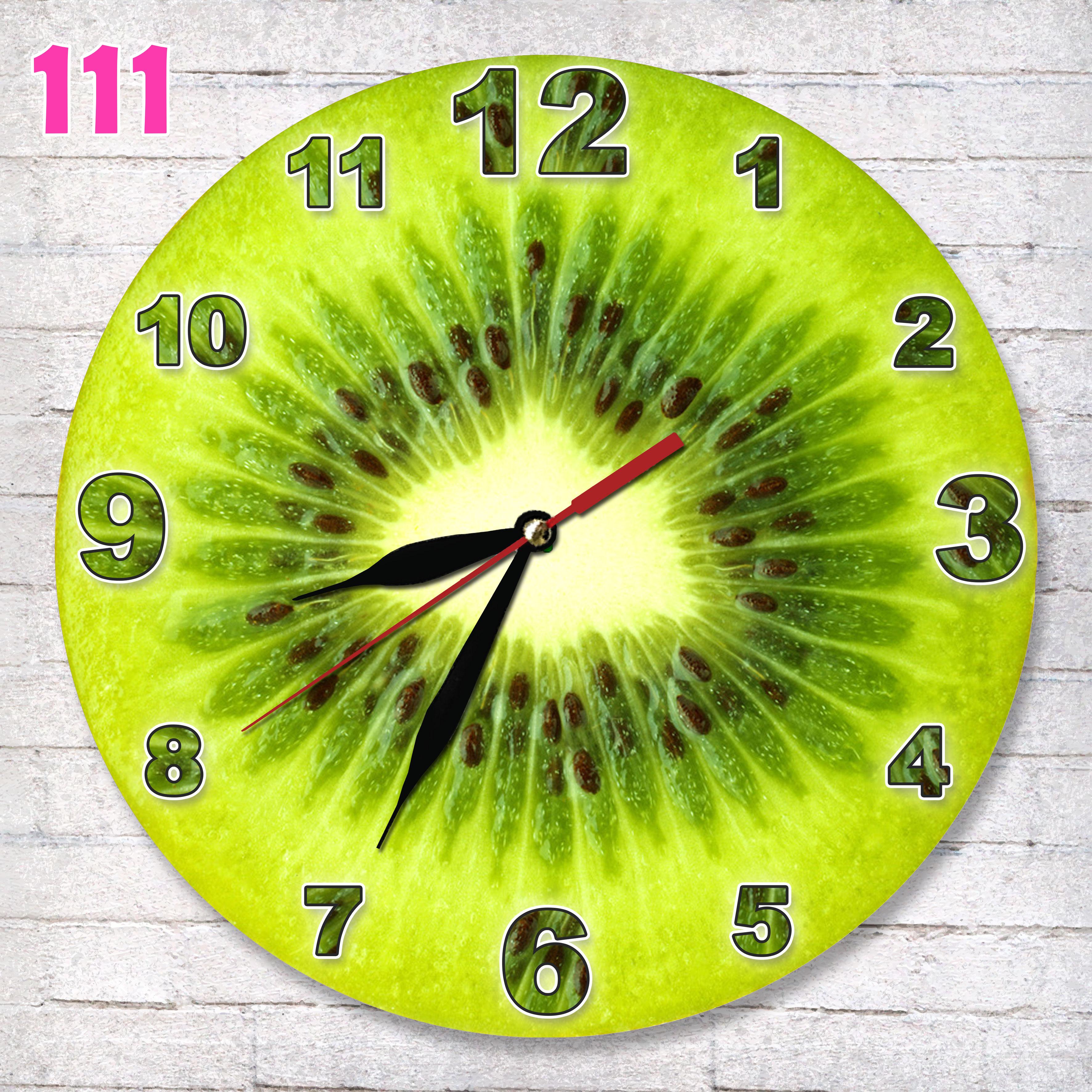 111 hiasan ruang jam dinding mdf motif buah kiwi