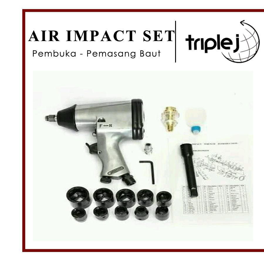 Air Impact Wrench Set Alat Buka Baut Alat Pasang Baut Alat Pengencang baut