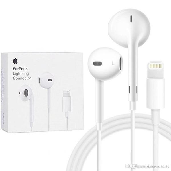 100% original apple earpods iphone 11 pro 7 8 x xr xs max plus airpods earphone lightning connector headset