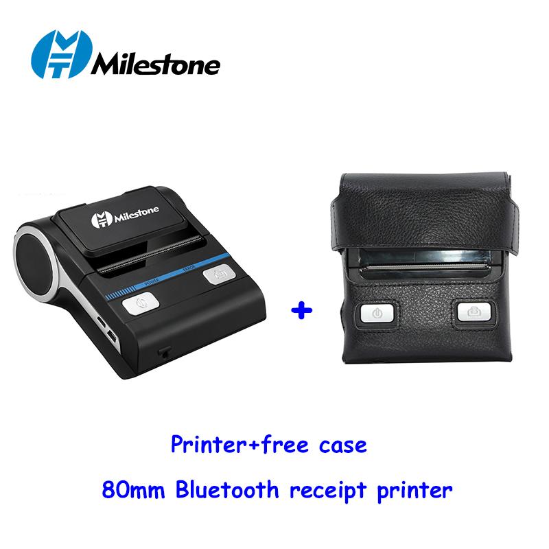 milestone mht-p8001 printer bluetooth thermal 80mm portable mini