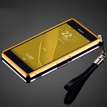 Metal bumper Aluminum Bumper Dual color Metal Frame For Sony Xperia Z3(Golden)