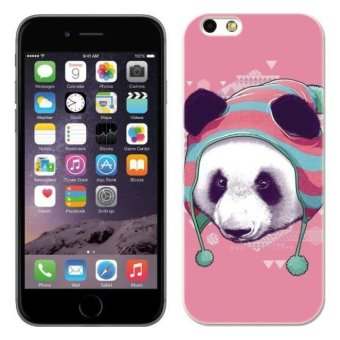 PC Plastic panda in hoody Case for Apple iPhone 6 pink