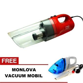 Pro Master Hoover Turbo Vacuum Cleaner + Gratis Monlova Portable For Car