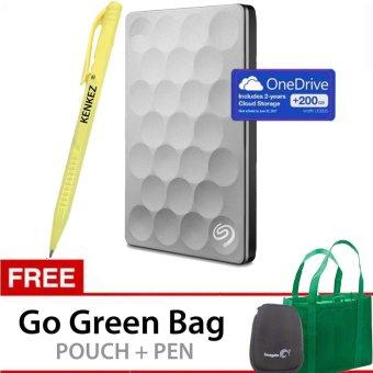 Seagate Backup Plus Ultra SLIM 1TB NEW Portable USB 3.0 Platinum Bonus Go Green Bag +