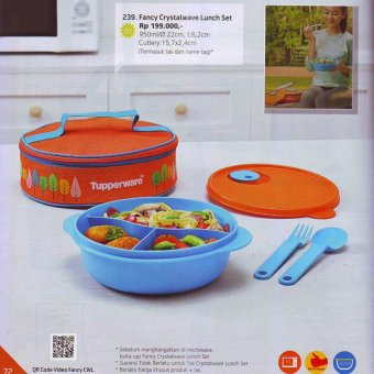 Tupperware - Funcy Crystalwave Lunch Set