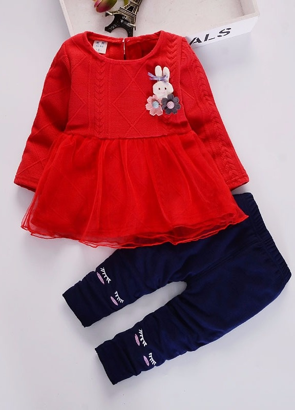 Fashion Bear Dicetak Cotton Baby Boys Pakaian Set-Intl