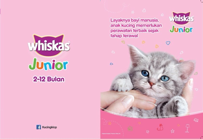 Whiskas Pouch Kitten Junior Mackerel – 85gr (6 Pcs)