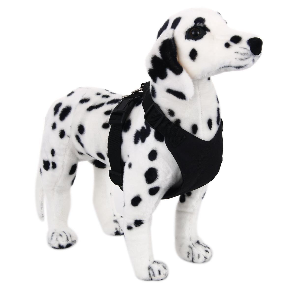 Detail produk dari Adjustable Dog Harness for Medium and Large Breed plus Seatbelt Safe Easy Walk Black S PS025