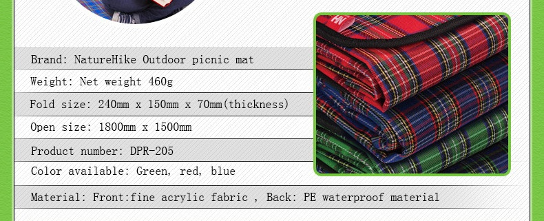 Tikar Piknik Lipat Multifungsi Waterproof Portable Outdoor Camping Folding Blanket Beach Yoga Picnic MAT