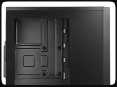 Bitfenix Window Side Panel for Casing Comrade/Neos (Window Side Panel Only) - Hitam