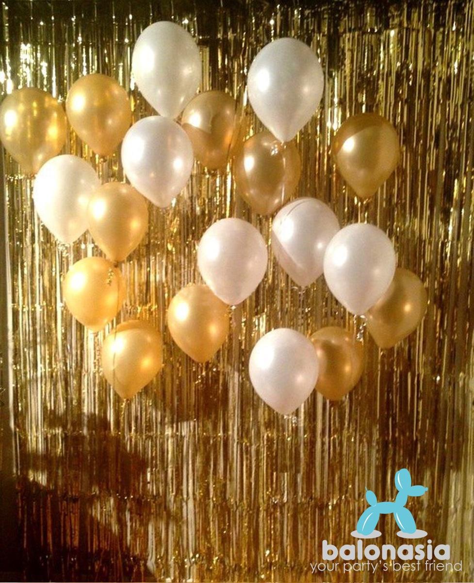 Balonasia Dekorasi Backdrop Set Ulang Tahun Blue Multipattern Garis Polkadot Your Partys Best Friend