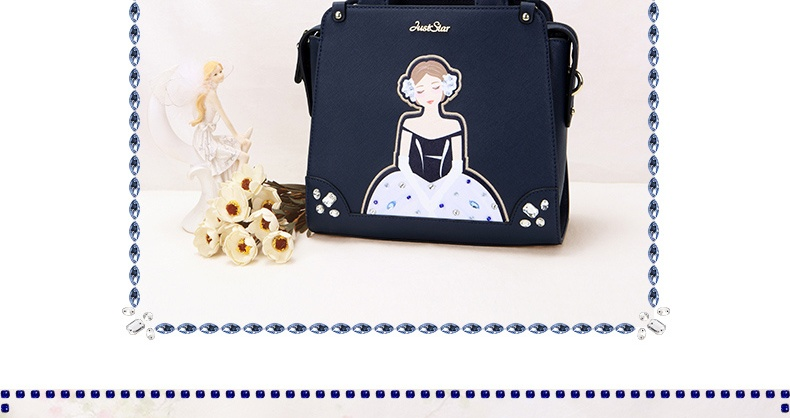 Faux Leather Purse Satchel Shoulder Hand Bag Tote Wedding Princess Character New