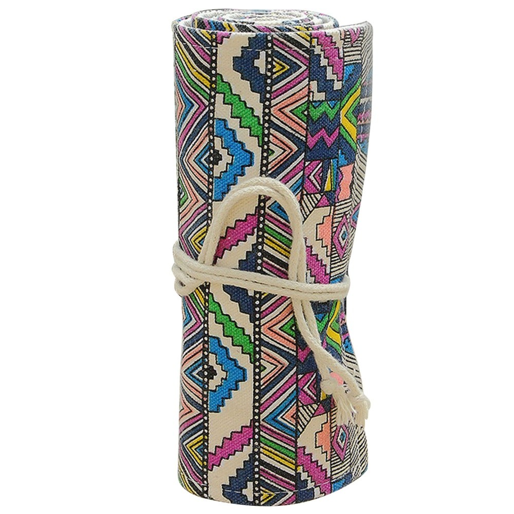 72 Slots Kanvas Roll Up Kotak Pensil Pemegang Tas Pengelola Untuk