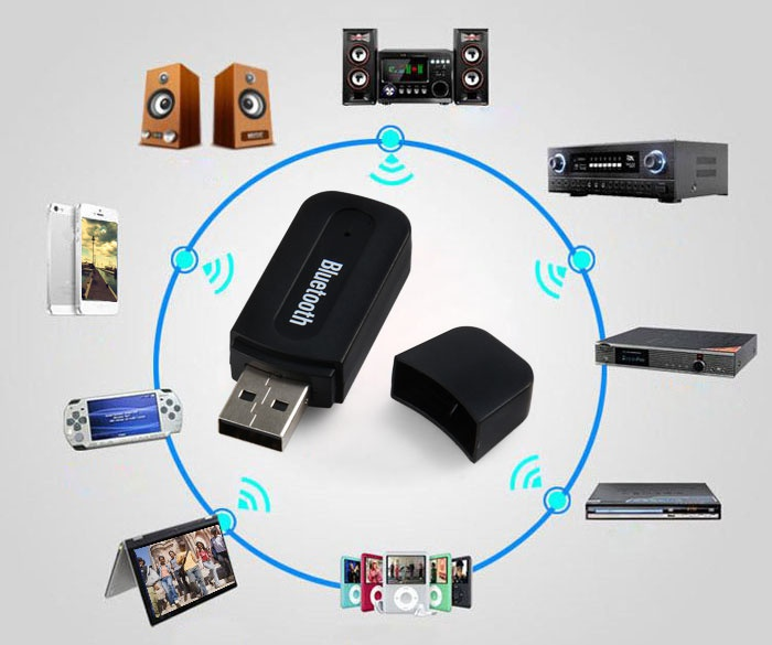 Bluetooth 2.1 USB Audio Music Receiver with 3.5mm Interface for Smart Phone