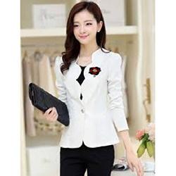 Jfashion Korean Style Women Blazer With Bross Long SLeeve - Linda Hitam
