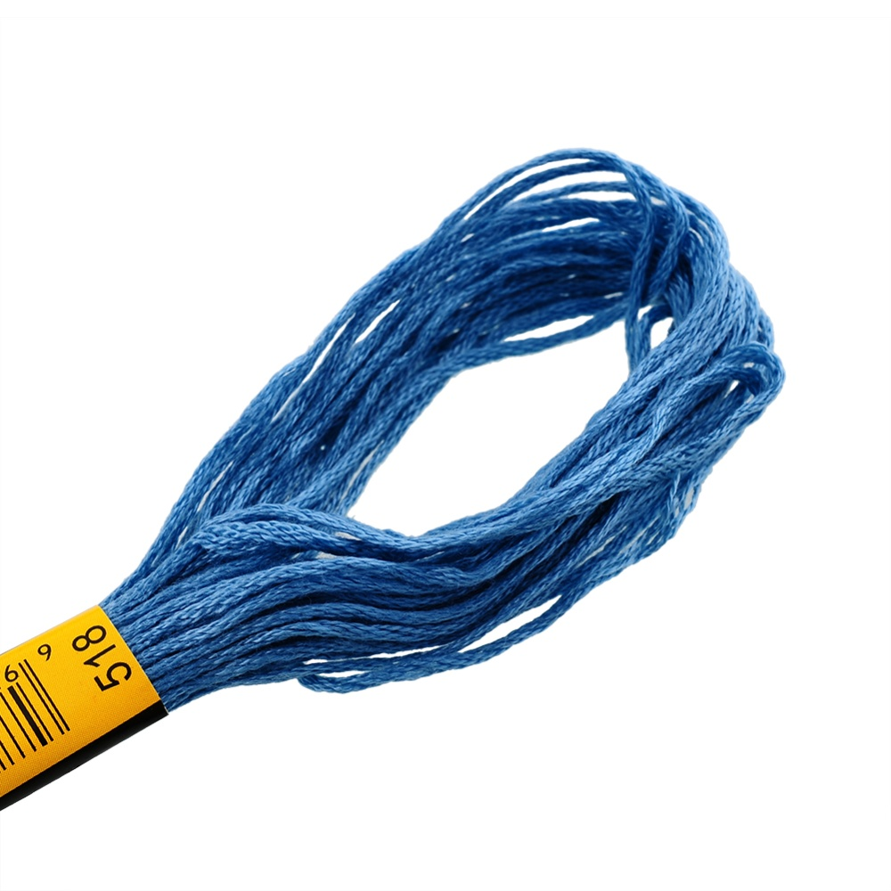 Panas 100 Warna Yang Berbeda Melintasi Stitch Kerajinan Sulaman Benang Katun Yang Dibetulkan .