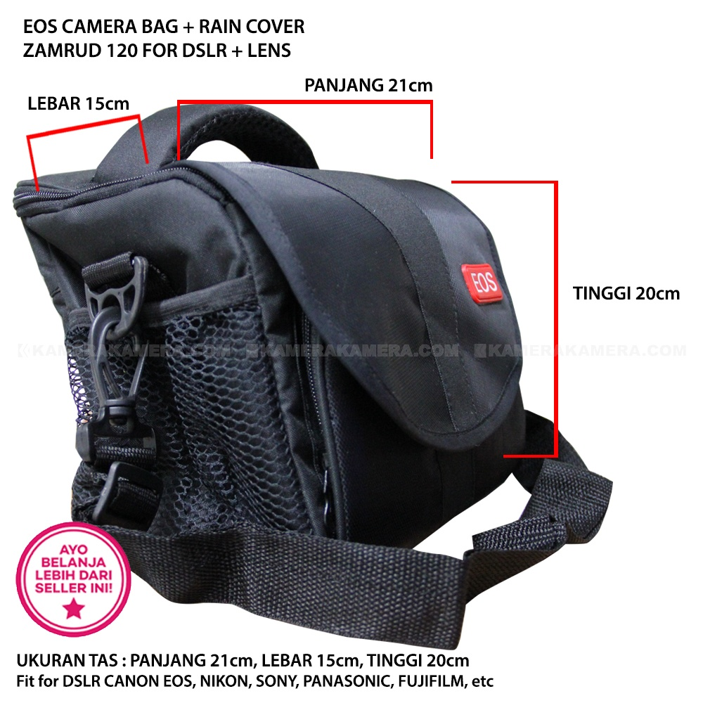 Jual Eos Camera Bag Rain Cover Zamrud 120 For Dslr Lens Fit Sdv Mr 502c Mirrorless Red Canon Nikon Sony Panasonic Fujifilm Etc