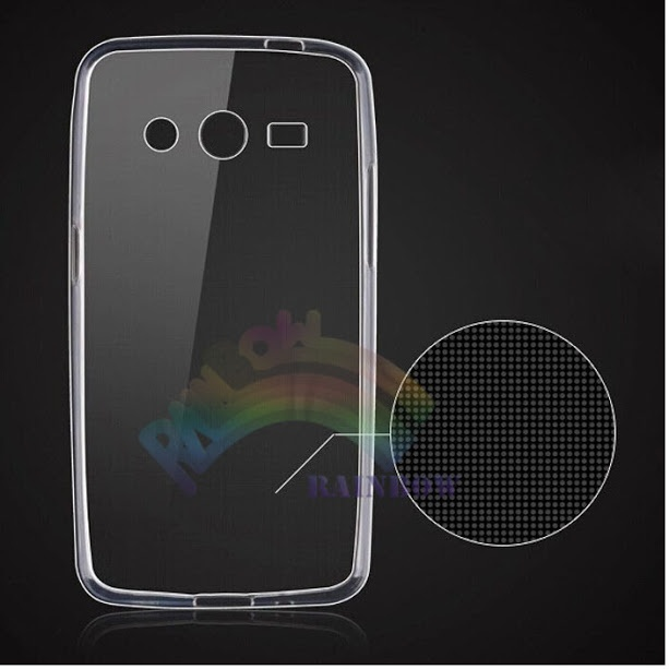 Rainbow Ultrathin Samsung Galaxy Core 2 G355H Ultrathin Jelly Air Back Case 0.3mm / Silicone